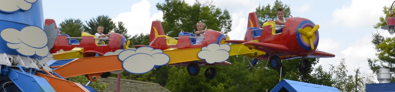 Kids plane ride at The Great Escape