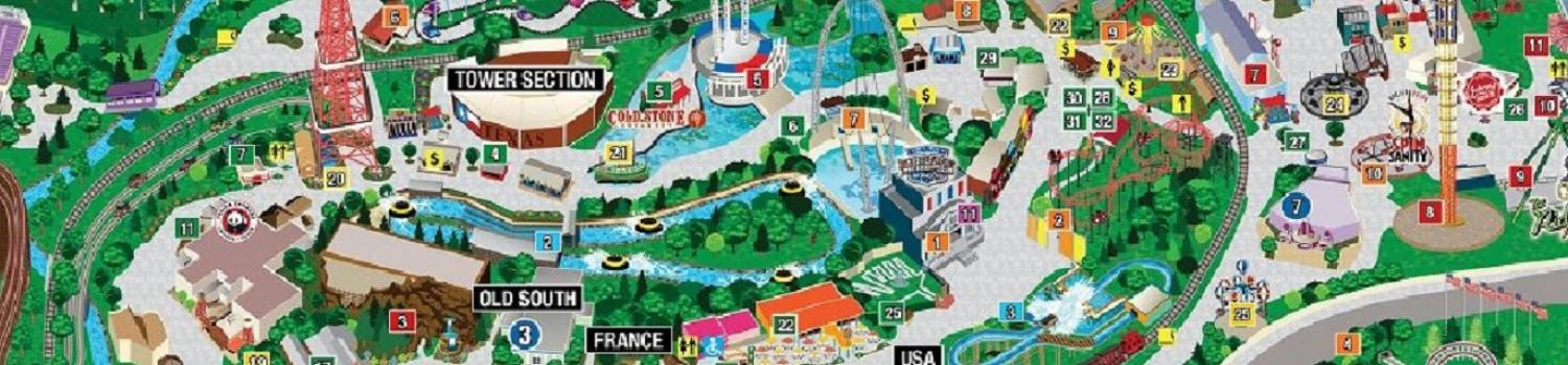 Park Map Six Flags Over Texas