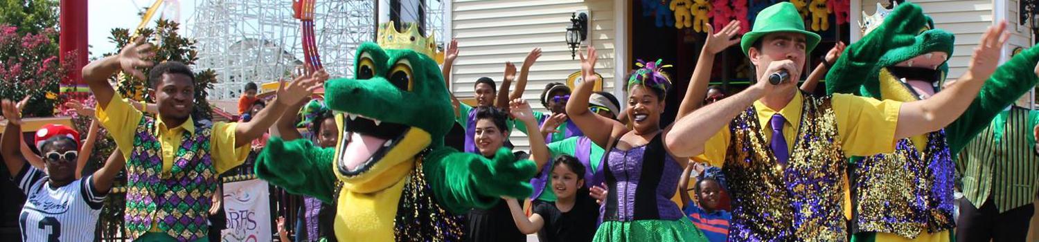 Party Gras performers
