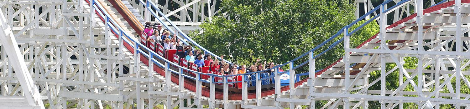 guests riding rollercoaster