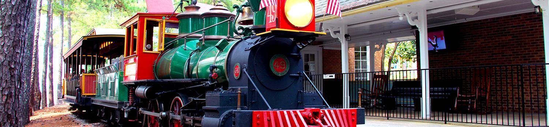 Guest aboard at Marthasville Station