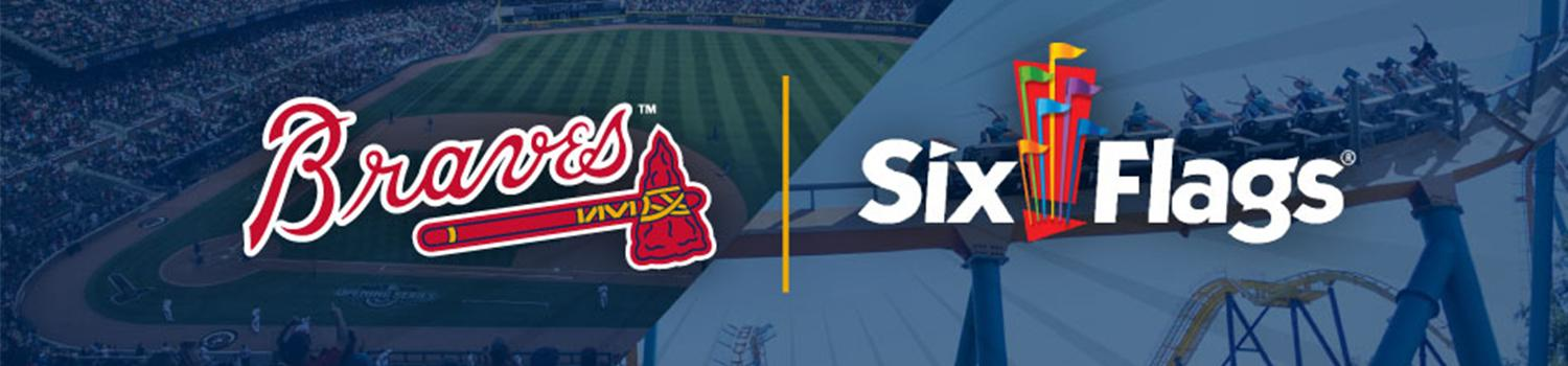 Get your Braves and Six Flags Tickets with the Summer Double Play Package
