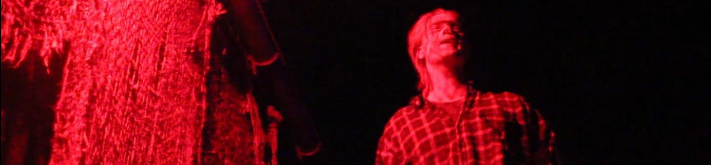 Scare Actor inside of Camp Slasher during fright fest