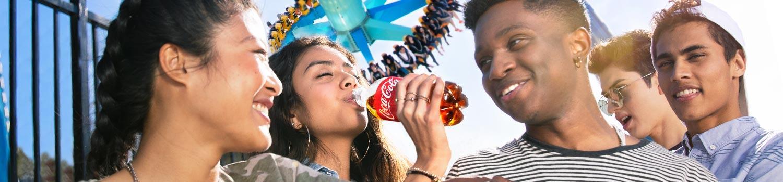Guests enjoying coca cola at the park
