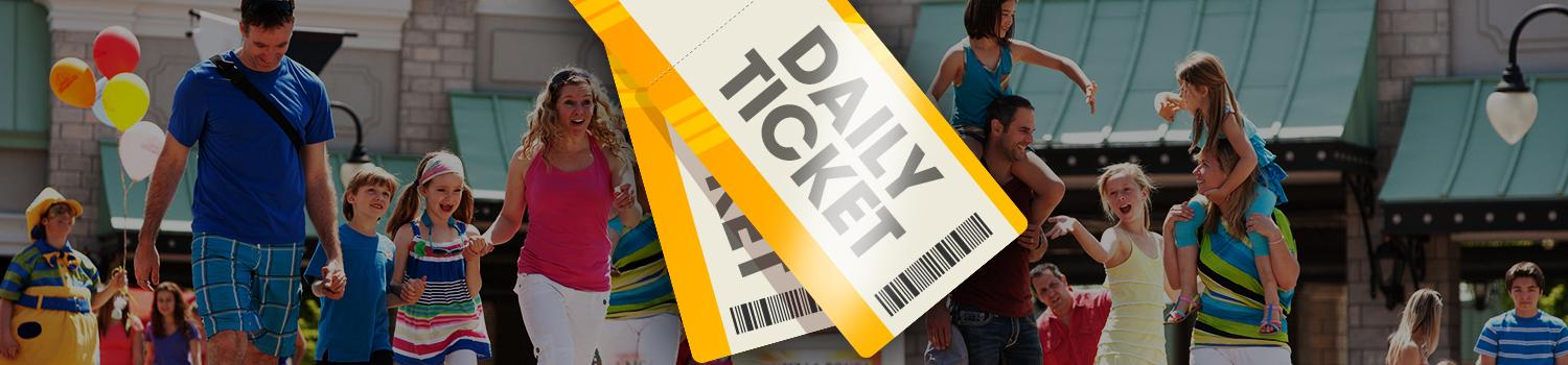 Save on daily tickets when you purchase at least one day in advance