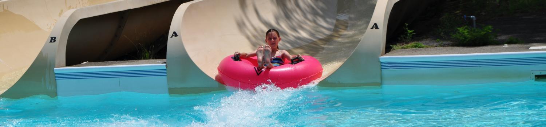 Tube ride water slide