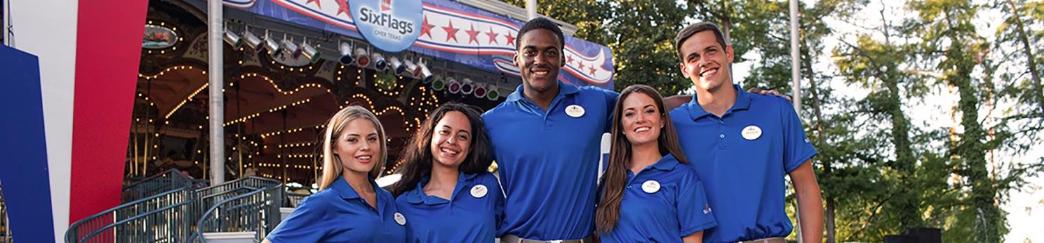 Group of new employees at Six Flags Over Texas