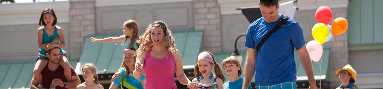 Family having fun at Six Flags