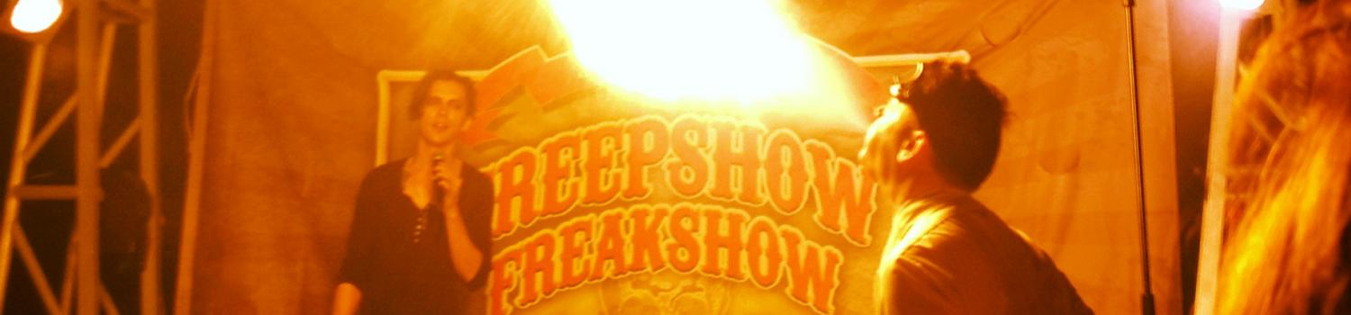 Creepshow Freakshow: Cavalcade of the Odd performs during Fright Fest at Six Flags New England