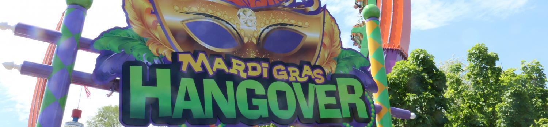 Mardi Gras Hangover sign