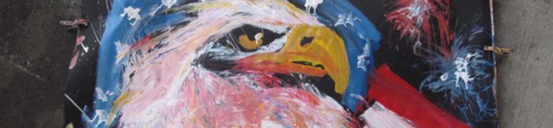 John Gowdy paint throwing art