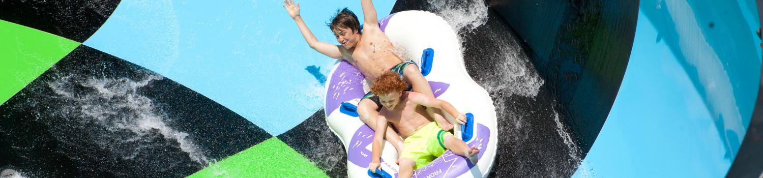 guests riding in an innertube