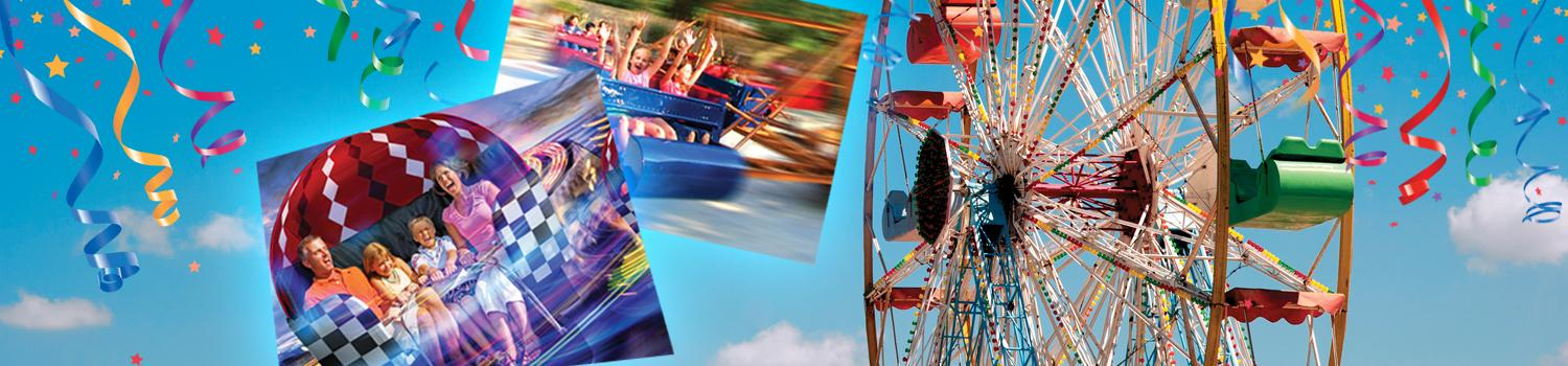 Rides, family and carnival decorations