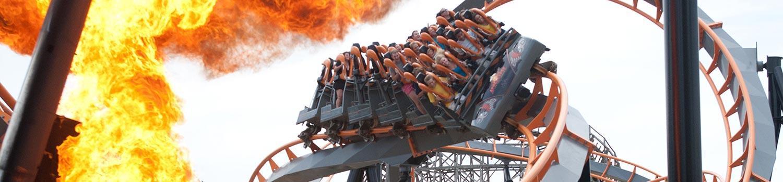 Apocalypse steel coaster