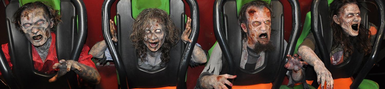 fright fest ghouls riding Tatsu