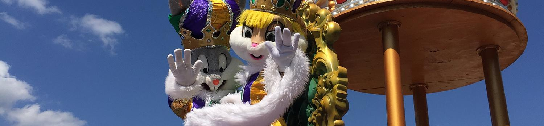 Bugs and Lola Bunny in Mardi Gras Parade