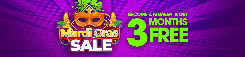 Mardi Gras Membership Sale
