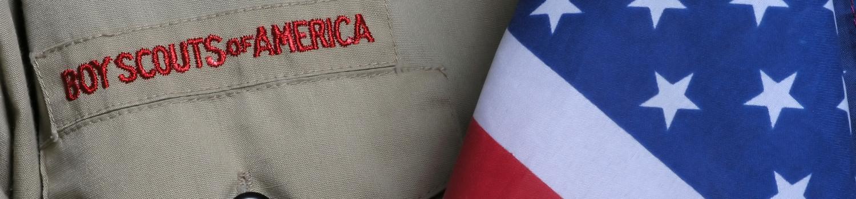 Boy Scout Uniform and Flag