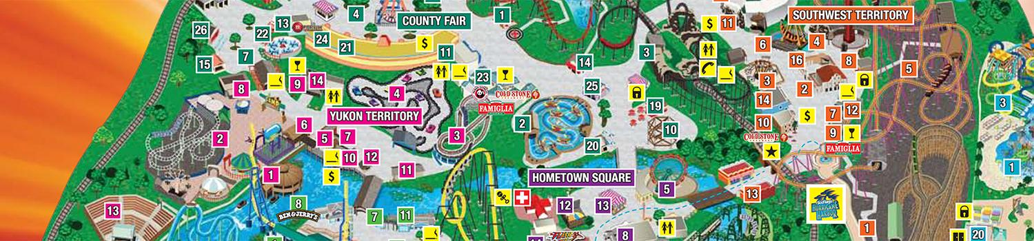 Six Flags Great America Map Park Map | Six Flags Great America