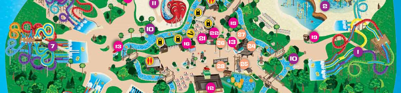 Hurricane Harbor NJ Park Map