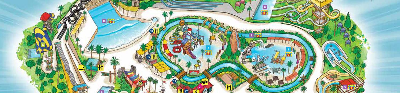 Hurricane Harbor LA Park Map