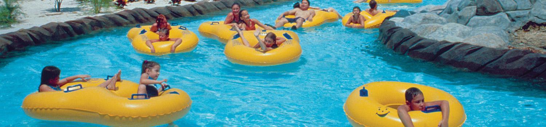 Guests floating in Taak It Eez Ee Creek