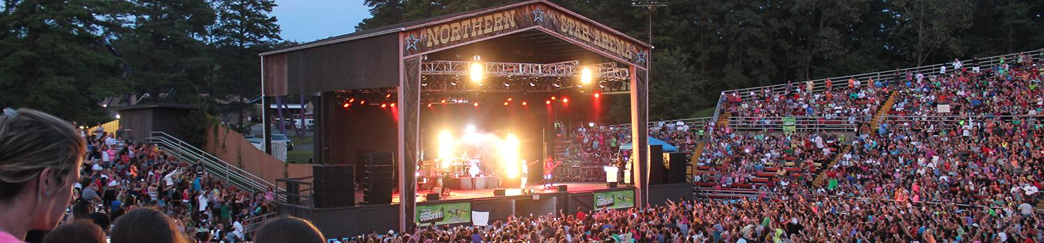 Northen Star Arena concert venue full during a show