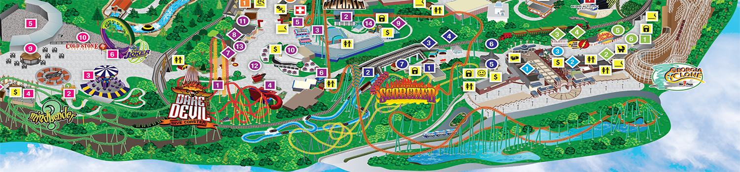 Six Flags Over Georgia Map Park Map | Six Flags Over Georgia Six Flags Over Georgia Map