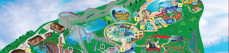 Park Map  Six Flags Over Georgia