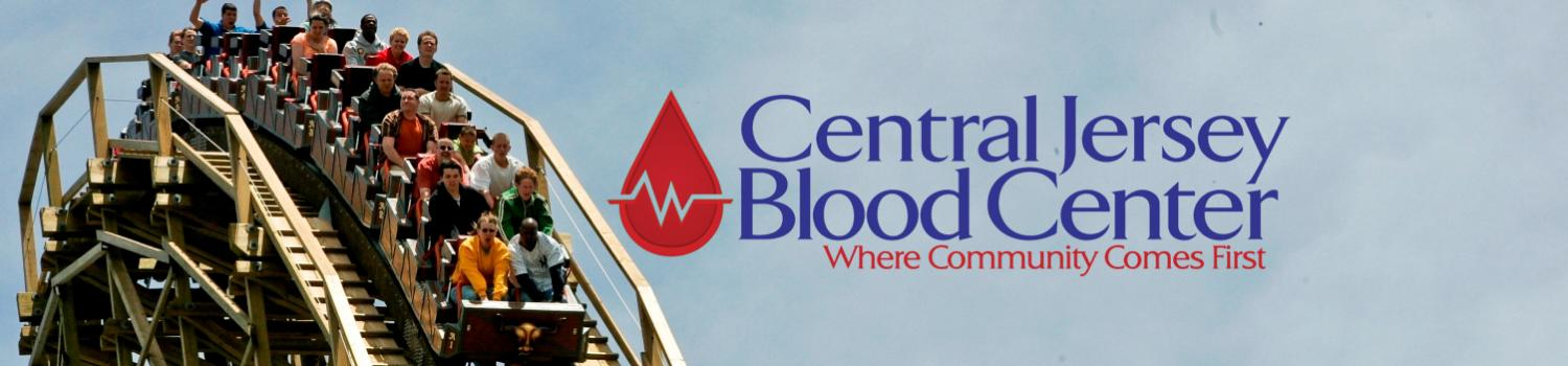El Toro wooden roller coaster with Central Jersey Blood Center logo