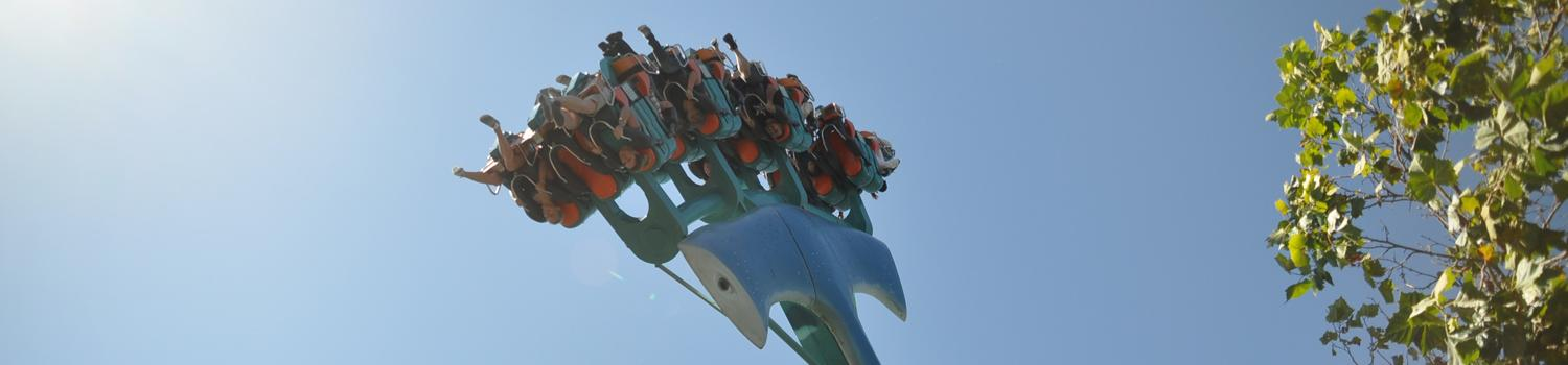 close up views of people on the ride