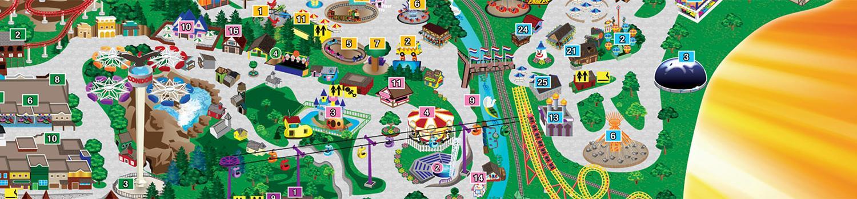 Park map of Great Escape