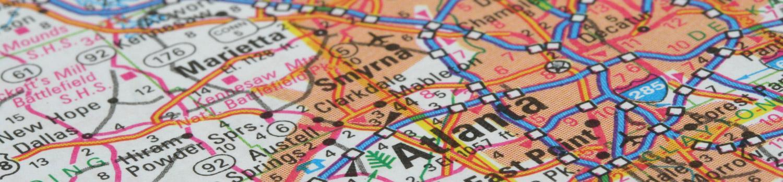 Map - Marietta and Atlanta, GA areas