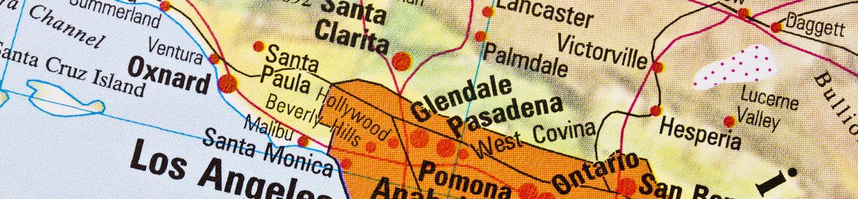 Los Angeles Area Map