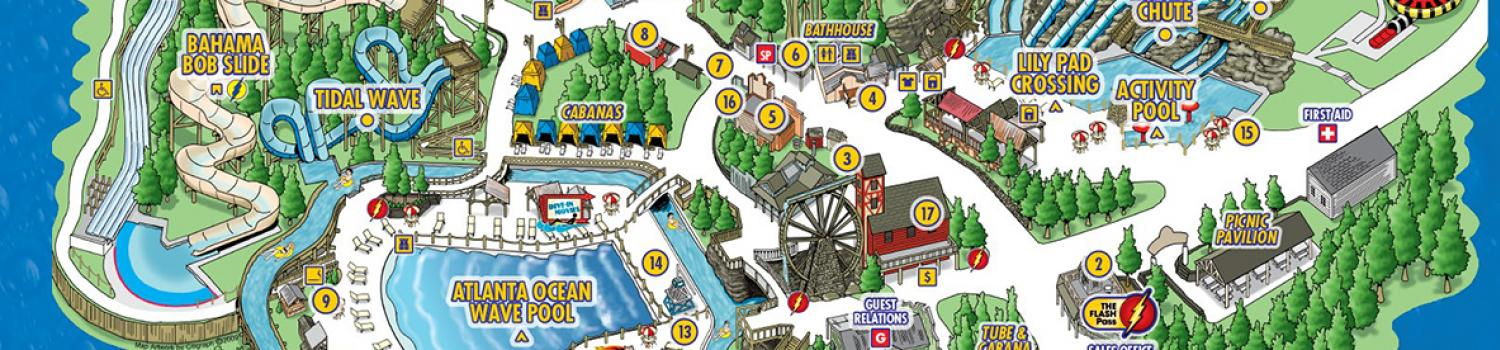 Park Map Six Flags White Water