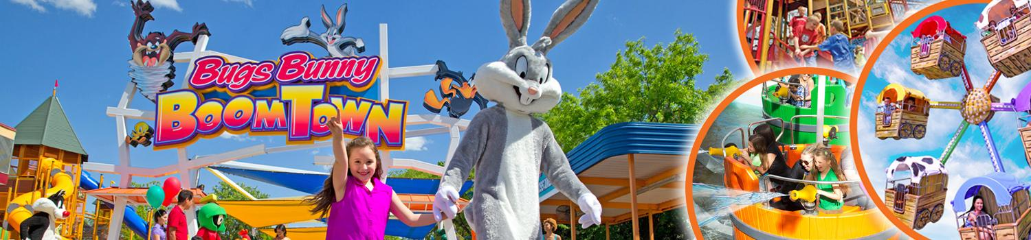 Bugs Bunny Hanging out in Bugs Bunny Boom Town