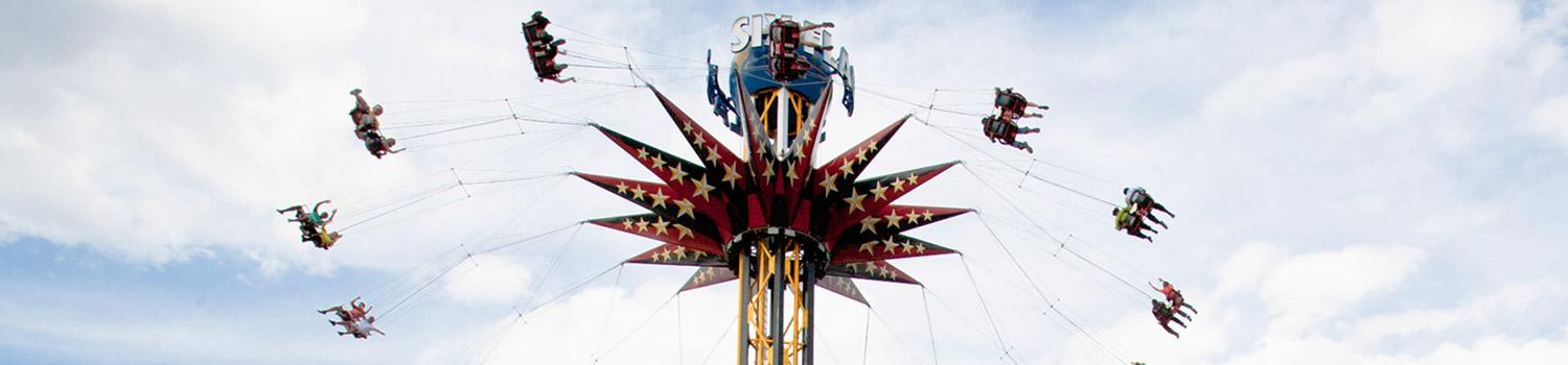 SkyScreamer Attraction on Memorial Day Weekend