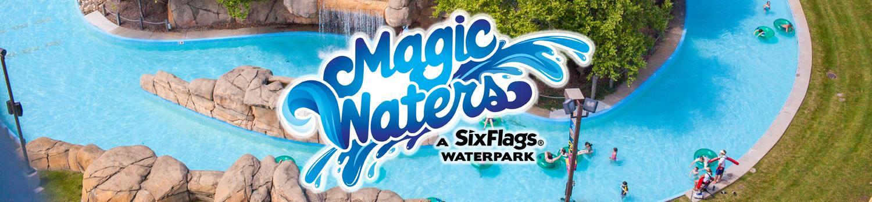 Magic Waters logo on photo above Splash Magic River