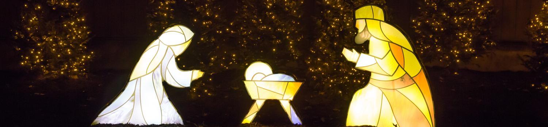 Illuminated nativity scene