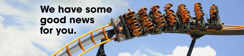 Roller coaster newsletter banner image