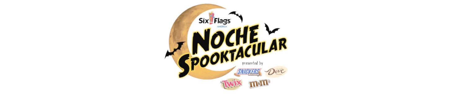 Logo for Noche Spooktacular at Six Flags America