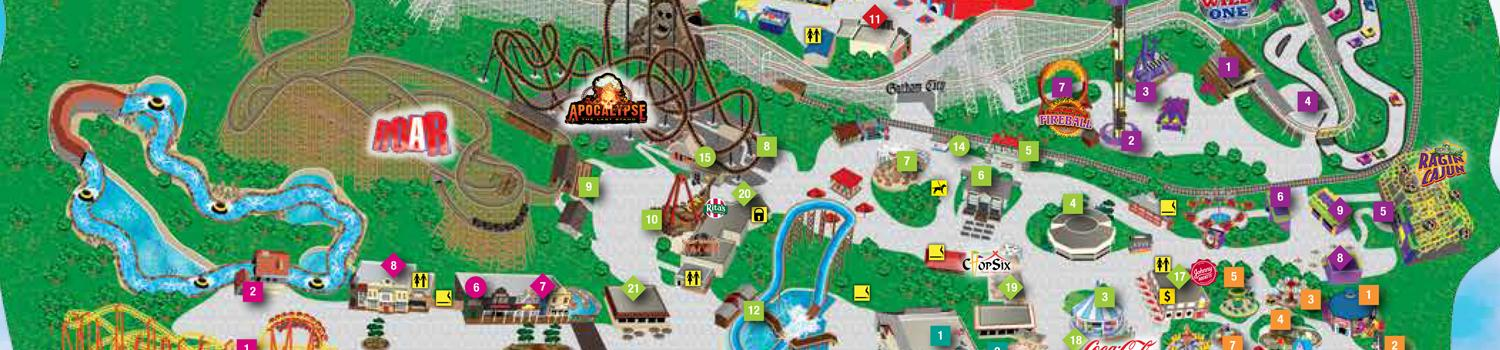 Six Flags America Park Map