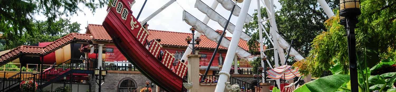 The Conquistador swinging ship