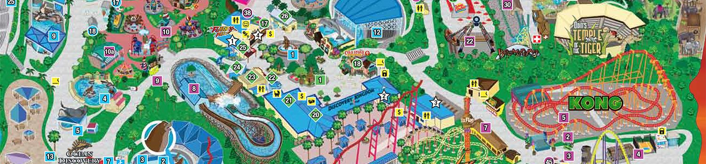 Six Flags Discovery Kingdom Map,