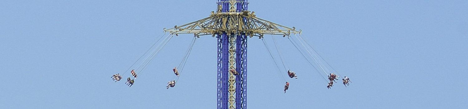 Riders swing through the air on the Texas SkyScreamer