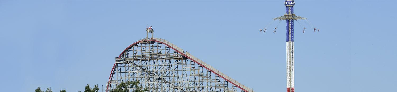 Texas SkyScreamer and New Texas Giant roller coaster