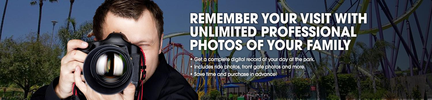 Photo taker capturing guests at Six Flags.