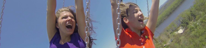 Teens riding New England SkyScreamer