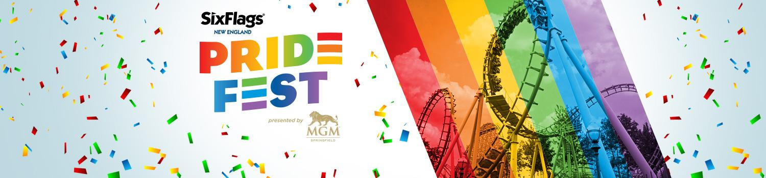 rainbow confetti with the MGM Lion