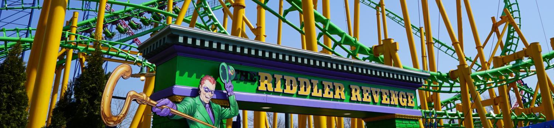 THE RIDDLER Revenge at Six Flags New England